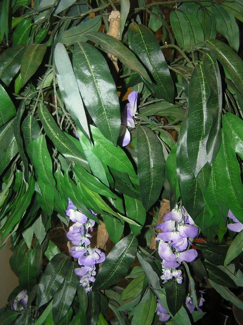 5 foot artificial floral tree in wicker pot - 2