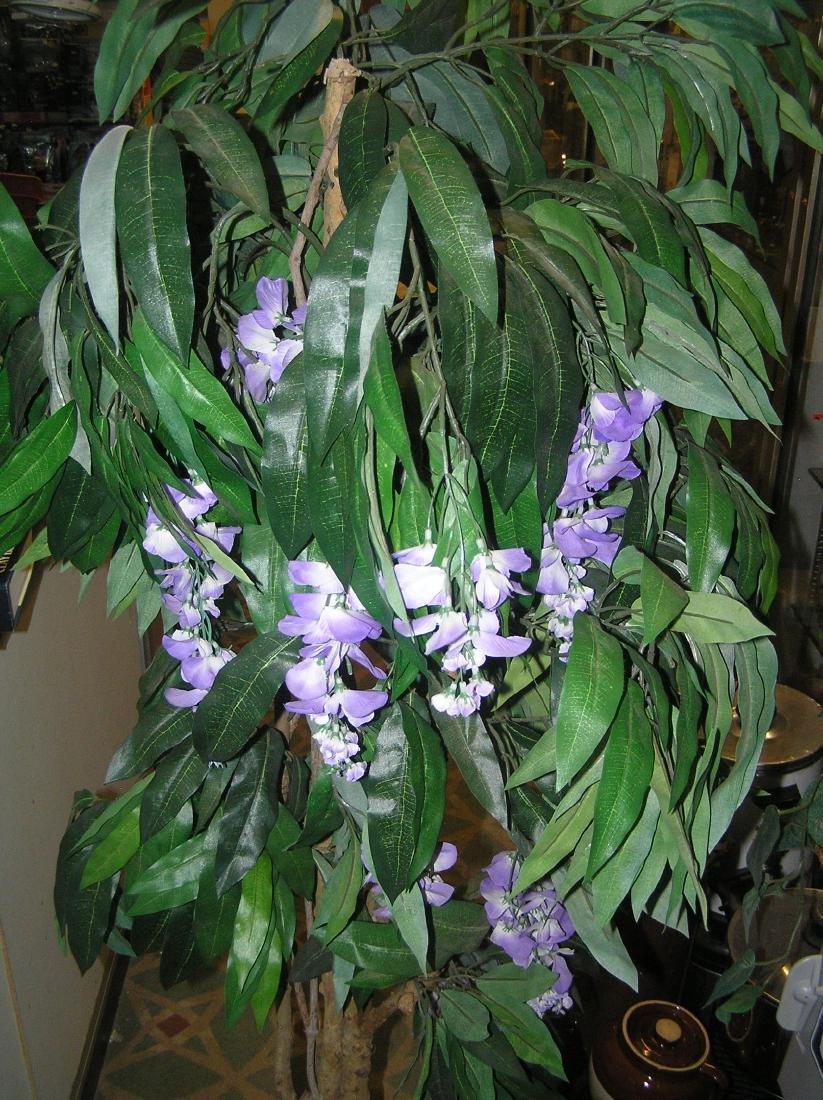5 foot artificial floral tree in wicker pot - 4