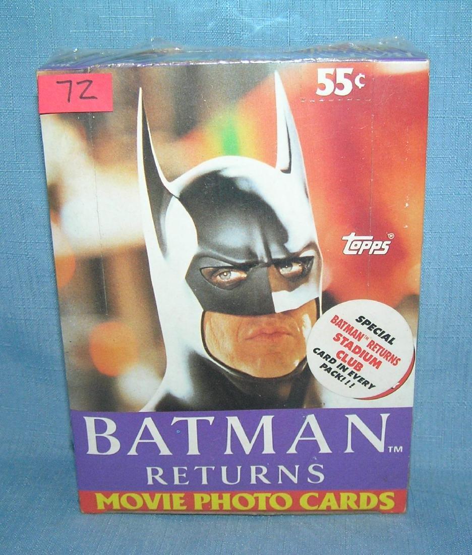 Box of vintage unopened Batman cards