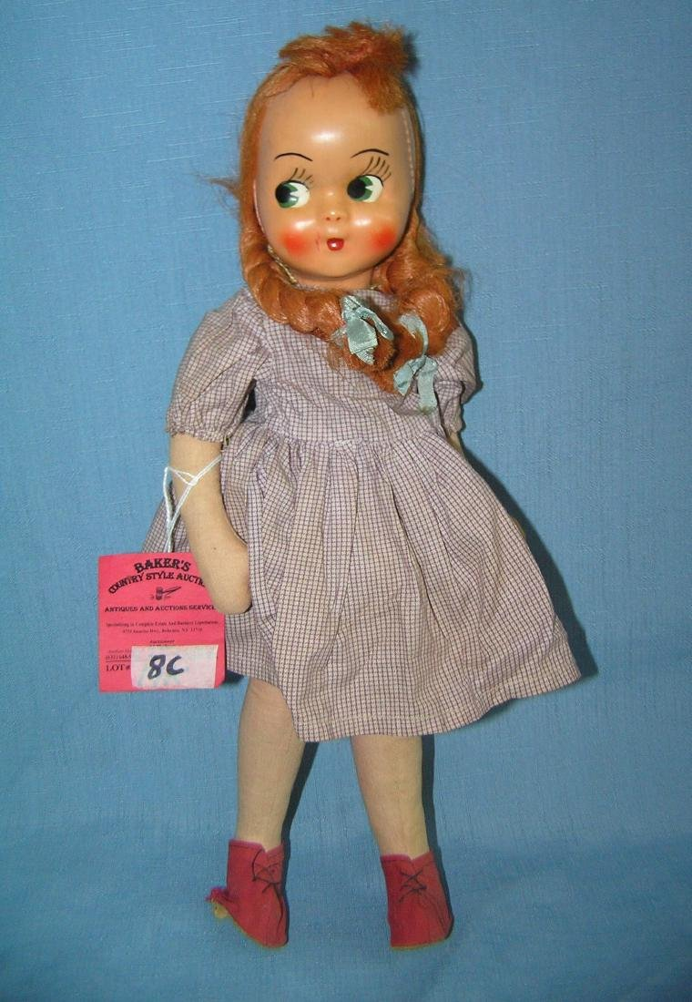 Antique cloth and composition child doll