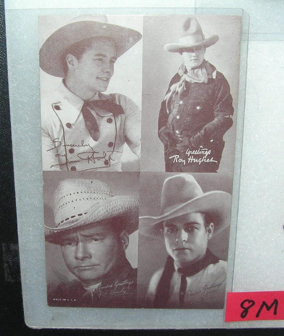 Vintage western stars penny arcade exhibit cards