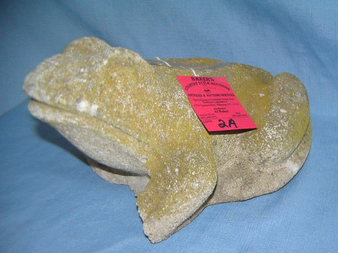 Cement frog garden figure