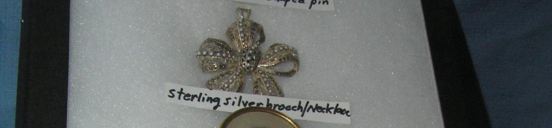 Sterling silver brooch/necklace