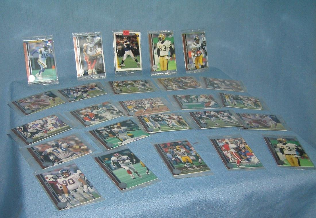Large group of vintage unopened football card packs