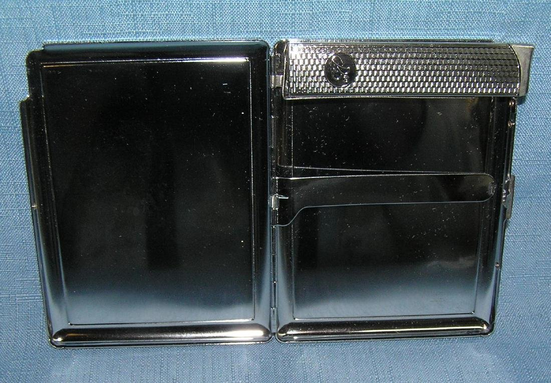 Fancy decorated cigarette case and lighter combo with - 2