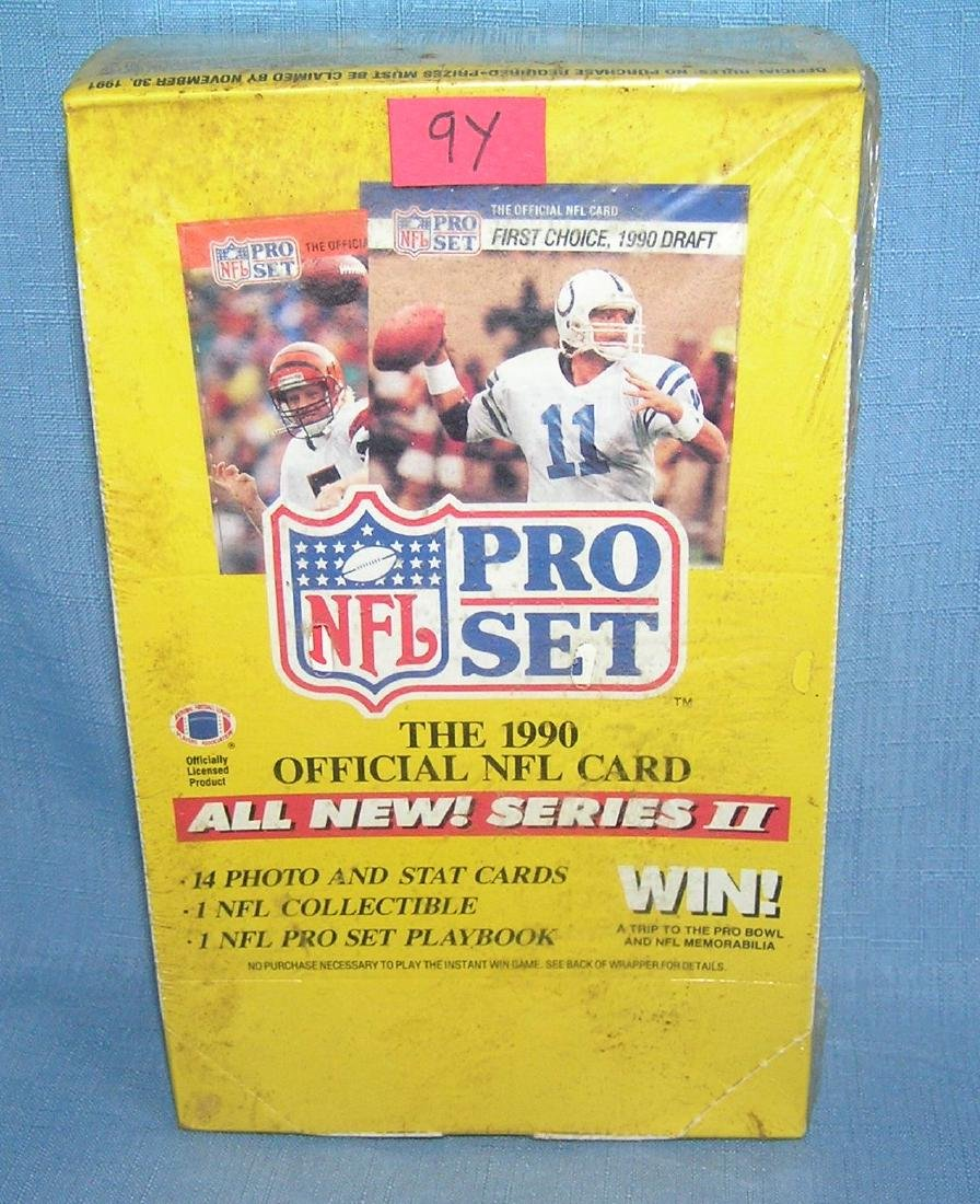 NFL pro football factory sealed unopened box 1990
