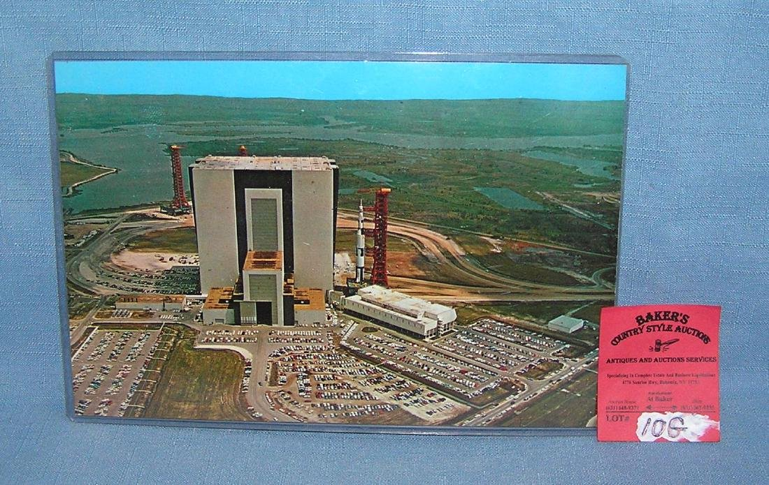 JFK Space Center NASA colored oversized post card