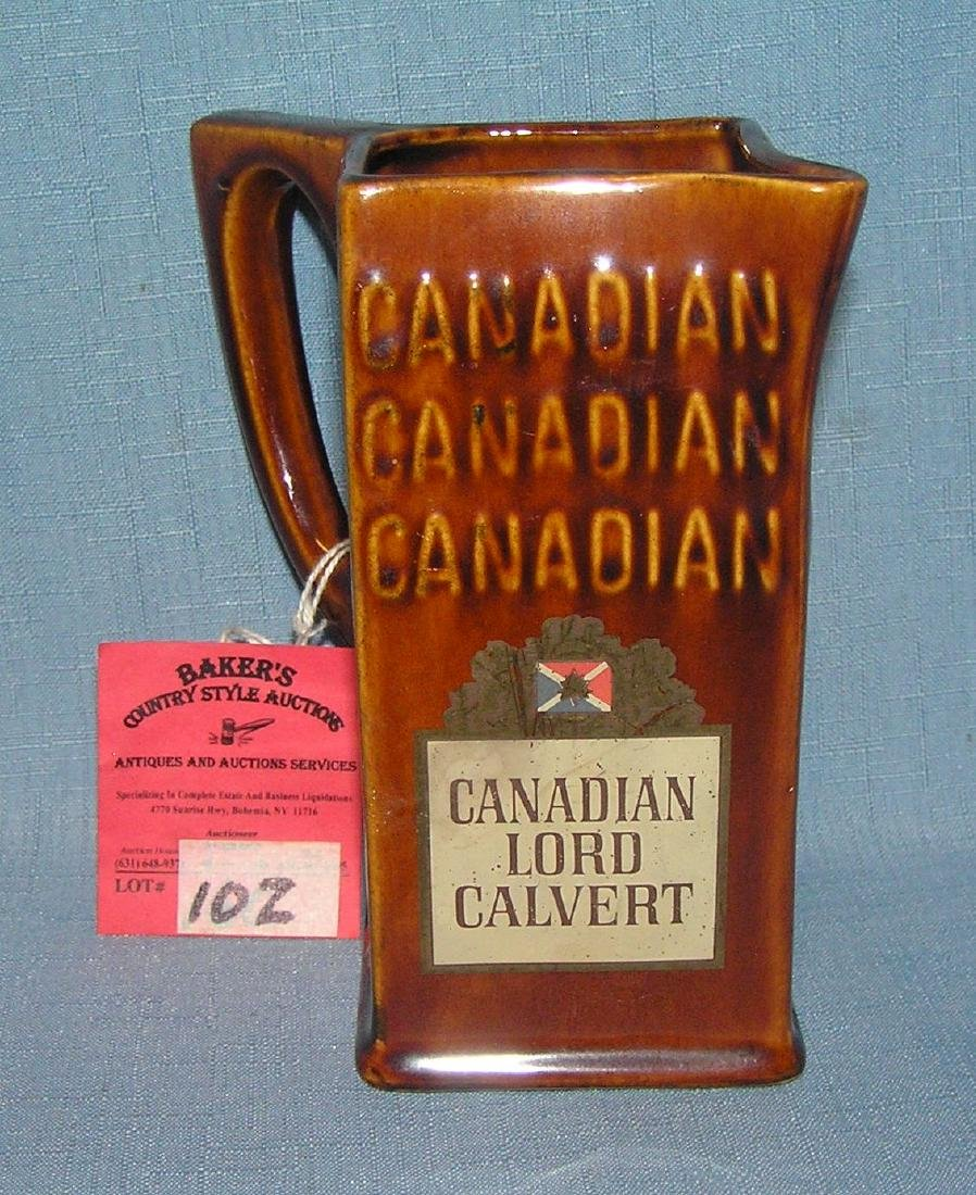Vintage imported Canadian Lord Calvert pitcher