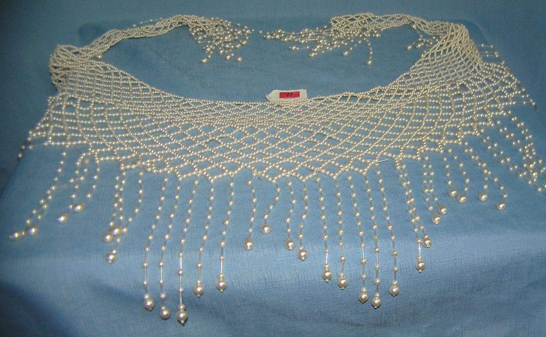 Pearl beaded ladies shawl