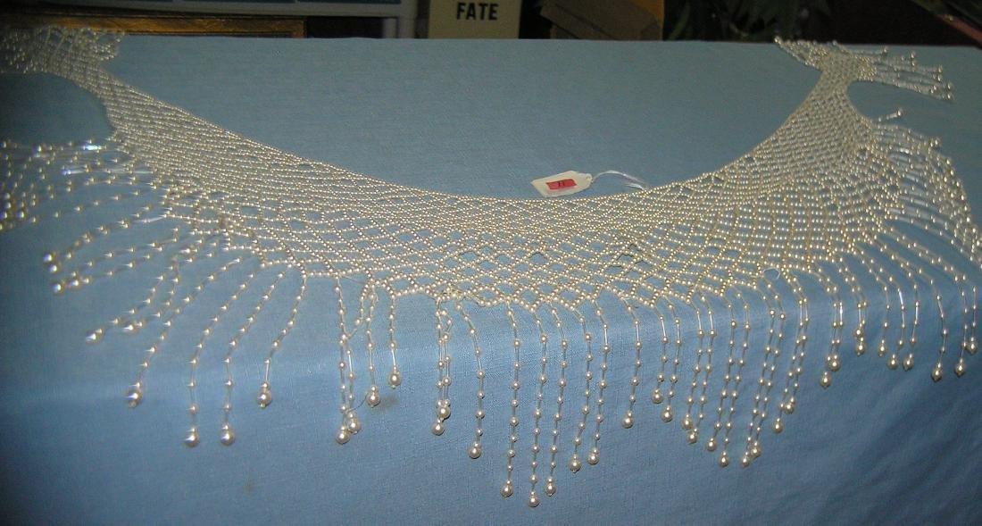 Pearl beaded ladies shawl - 3