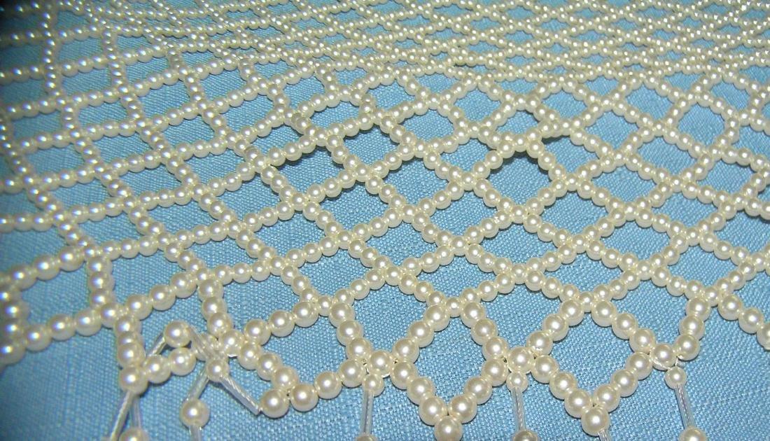 Pearl beaded ladies shawl - 4