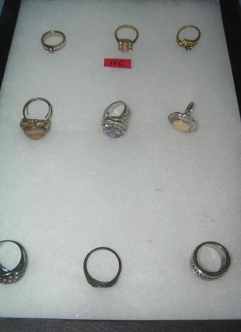 Collection of great vintage costume jewelry rings