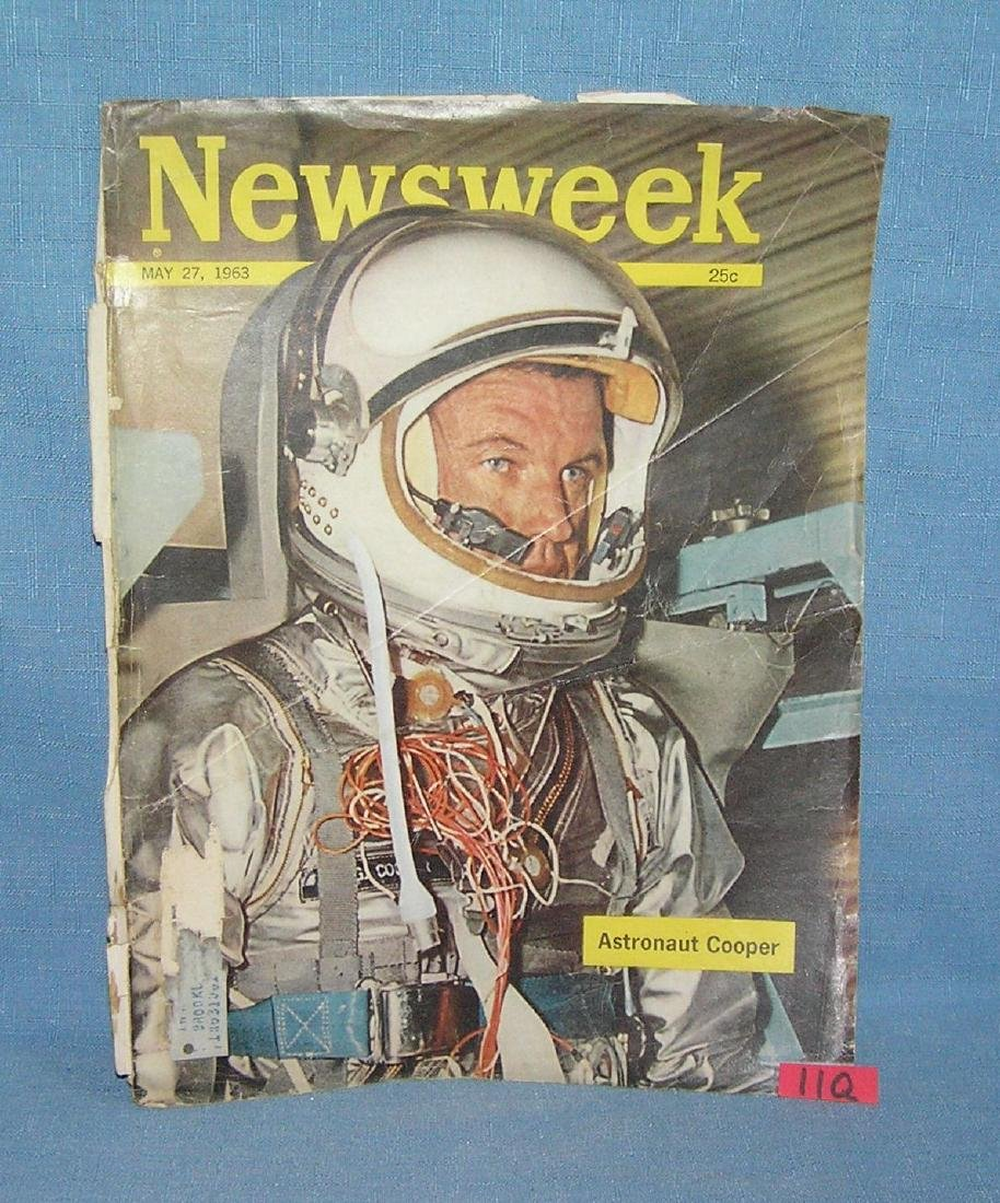 Newsweek with astronaut Cooper cover May 27th, 1963