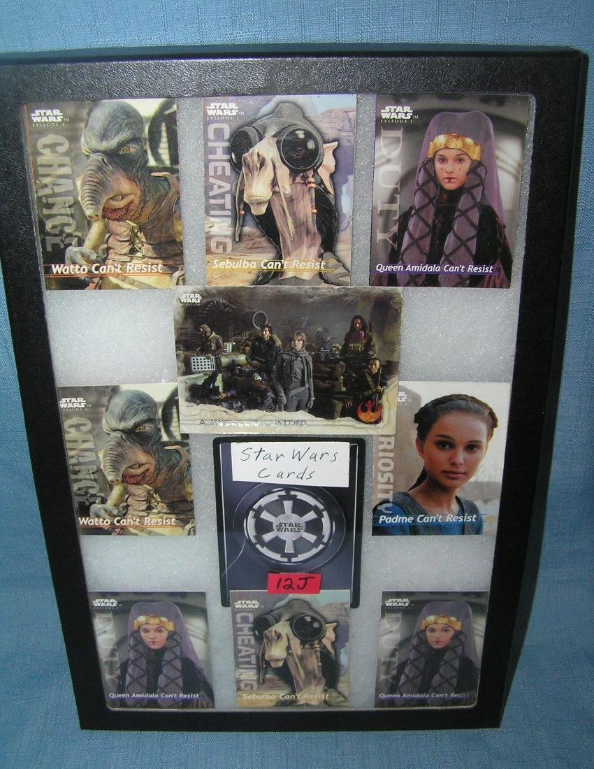 Group of Star Wars cards
