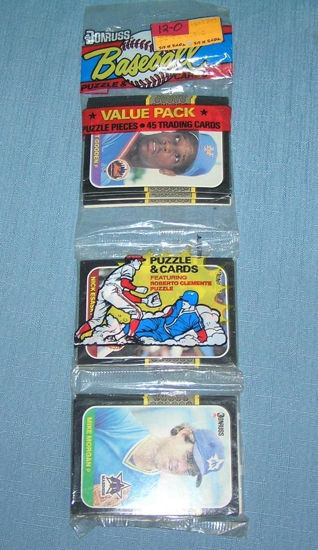 Donruss unopened rack pack 1987