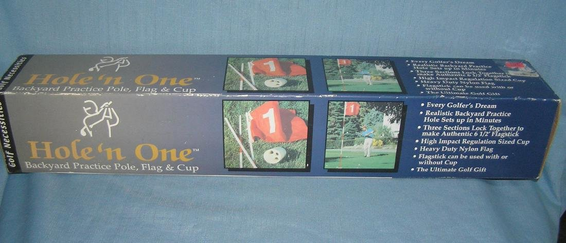 Hole 'N One backyard practice pole, flag and cup set