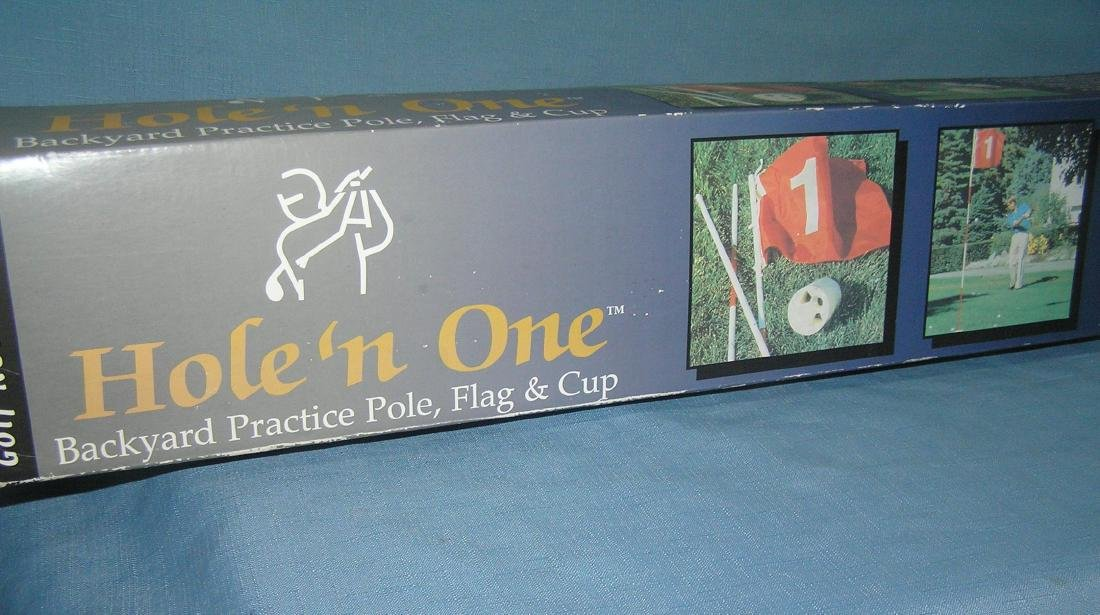 Hole 'N One backyard practice pole, flag and cup set - 2