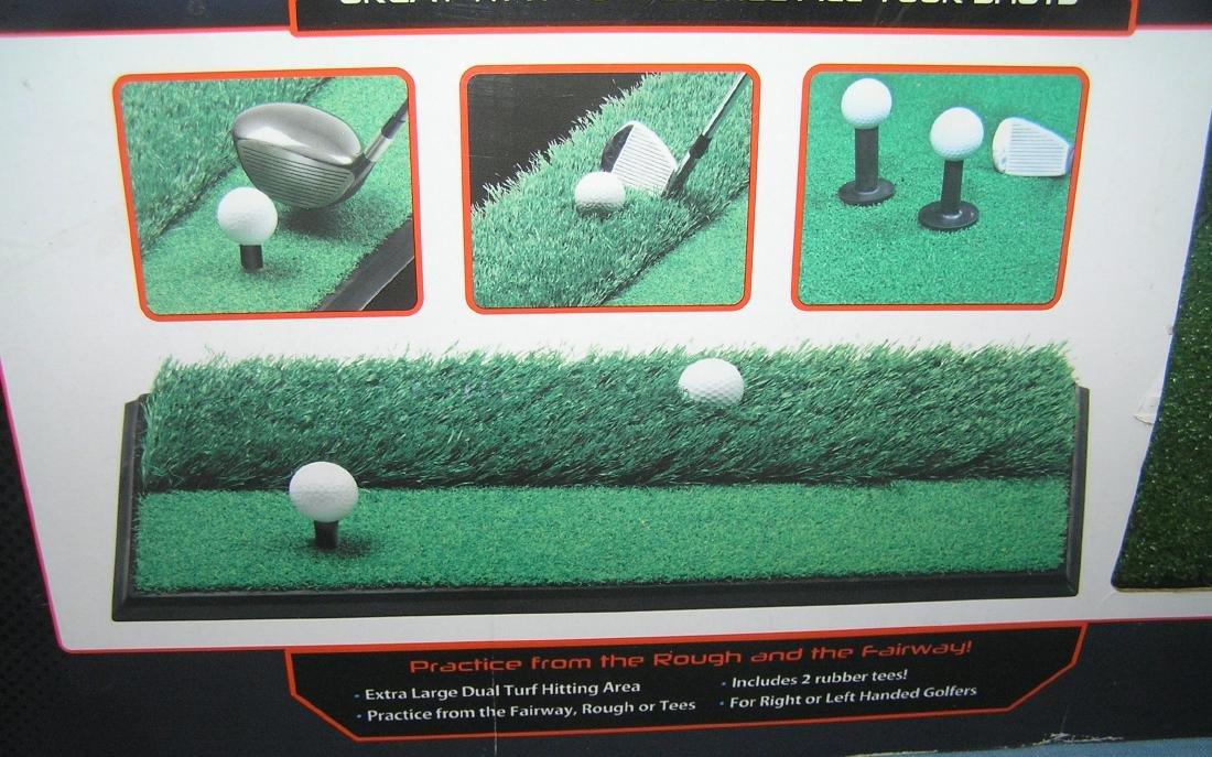 Dual turf practice golfing mat - 2