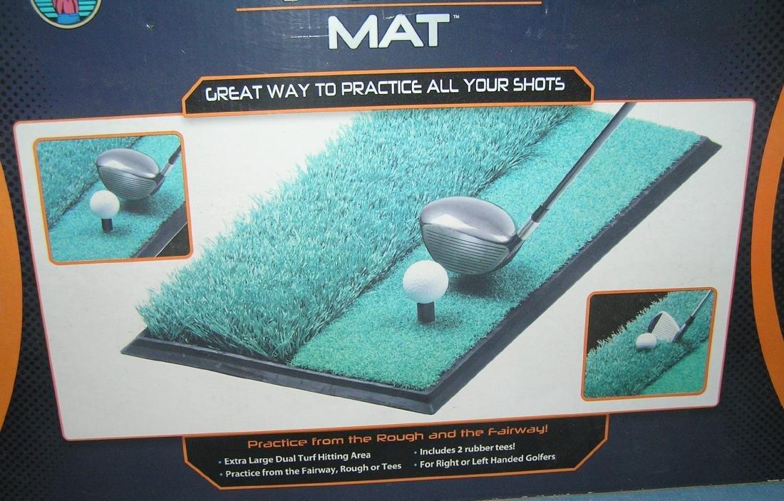 Dual turf practice golfing mat - 3