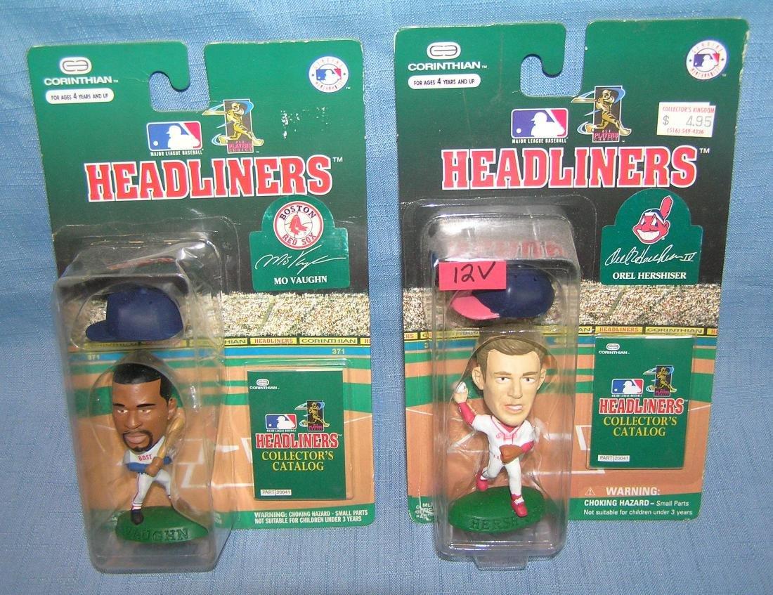 Pair of vintage baseball sports figures
