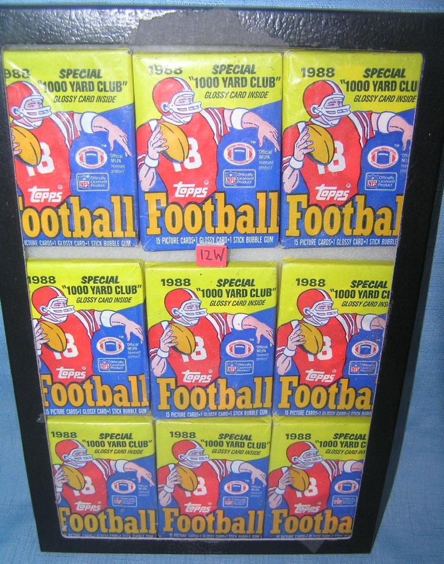 Topps unopened football card packs circa 1988