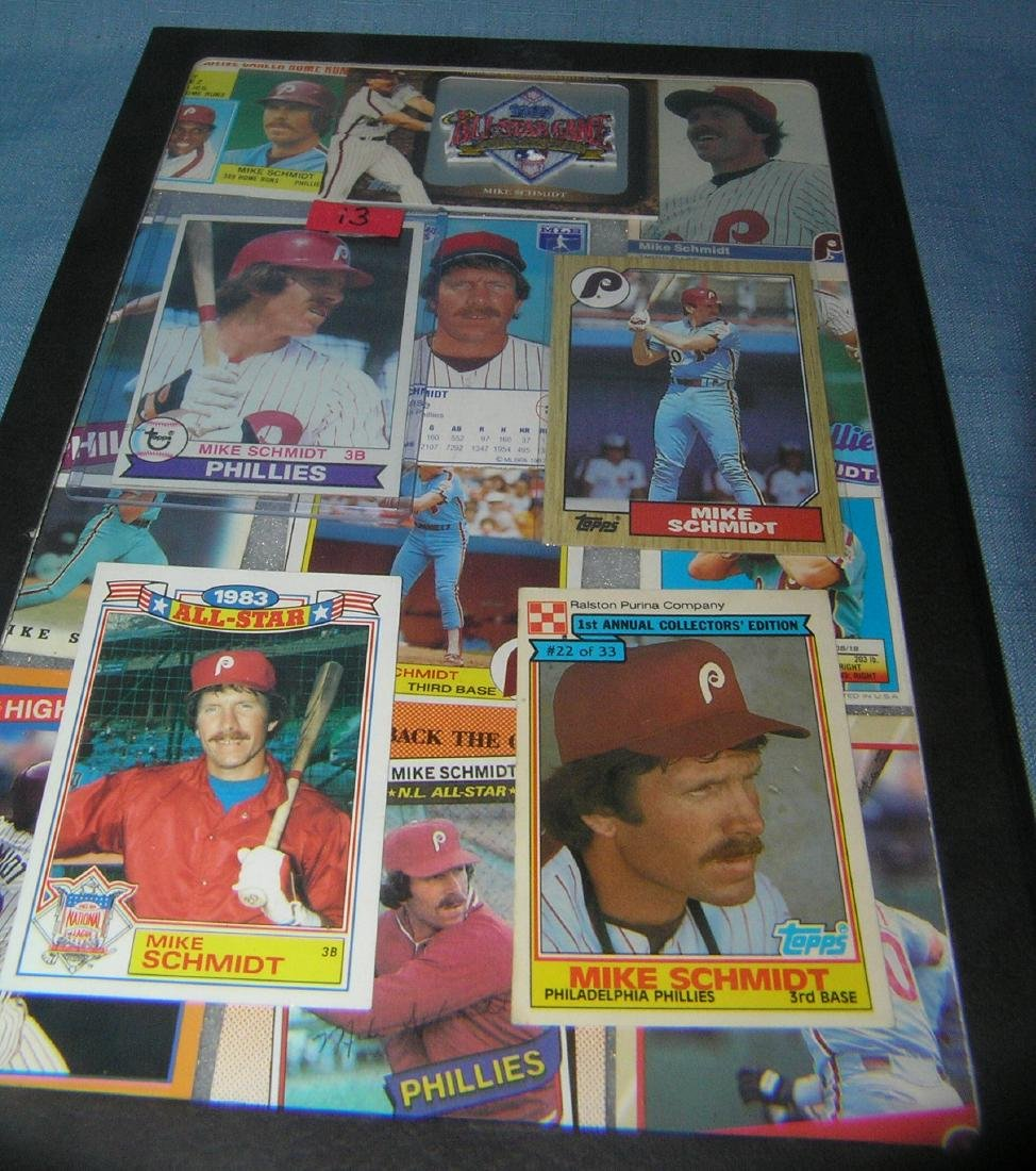 Collection of vintage Mike Schmidt all star baseball