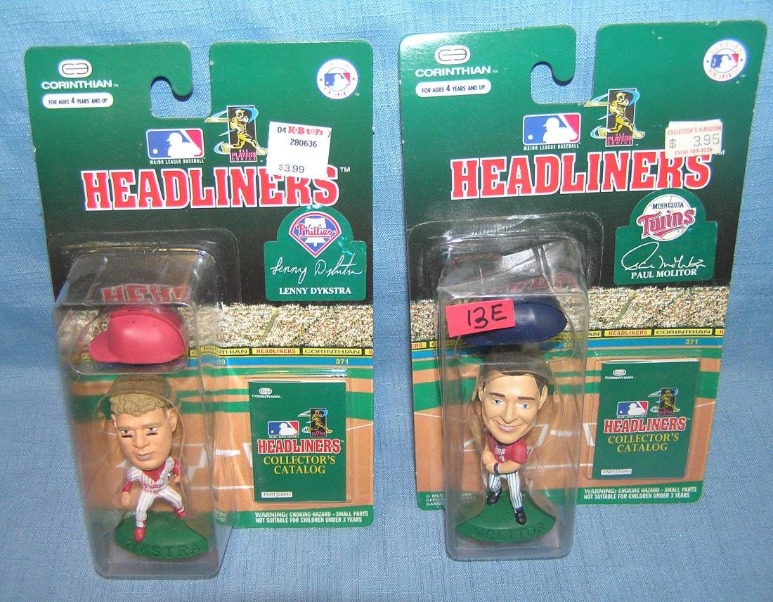 Pair of vintage baseball sports figures