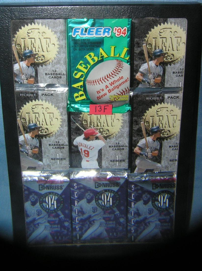 Collection of mint unopened baseball card packs