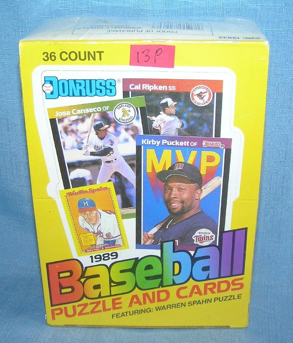 Dunruss 1989 box of unopened baseball card packs