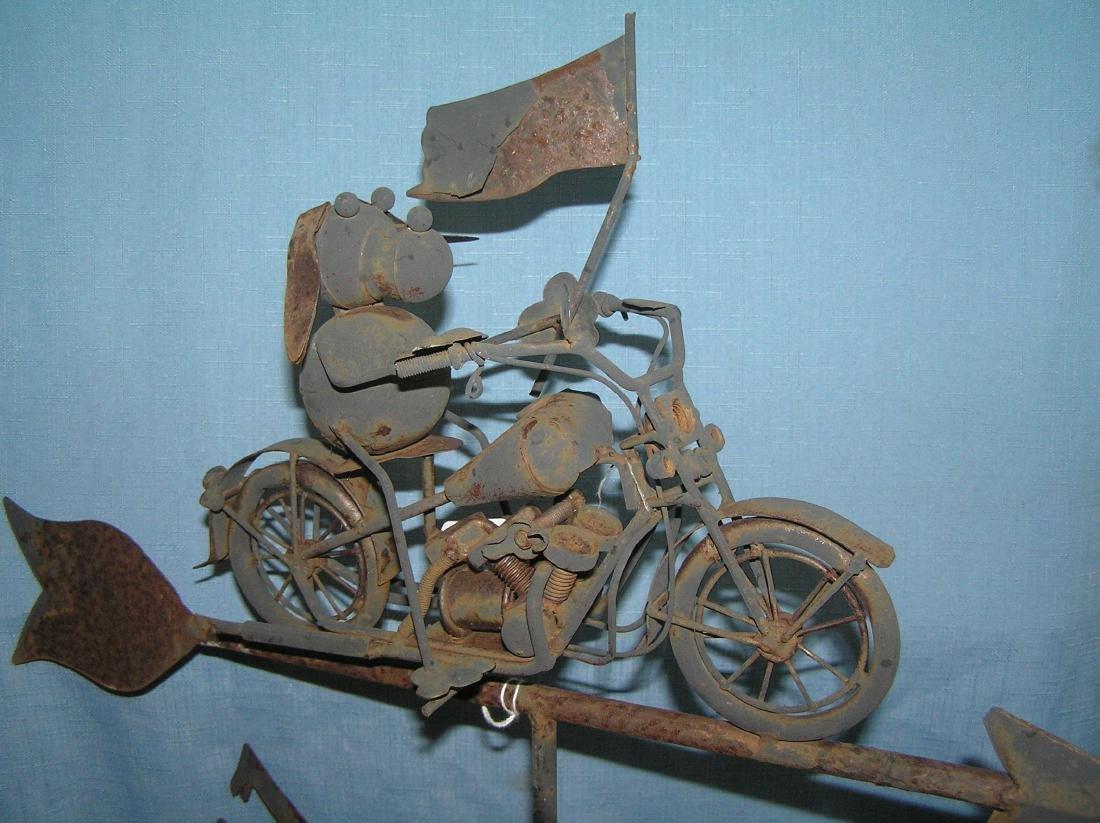 Harley Davidson style motorcycle decorated weather vane - 5