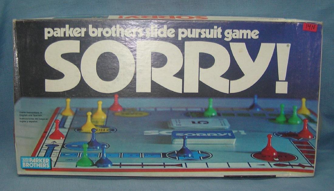 Parker Bros. Sorry game