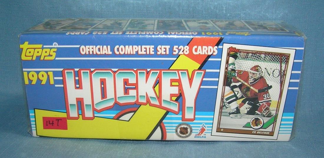 Topps 1991 hockey factory sealed box