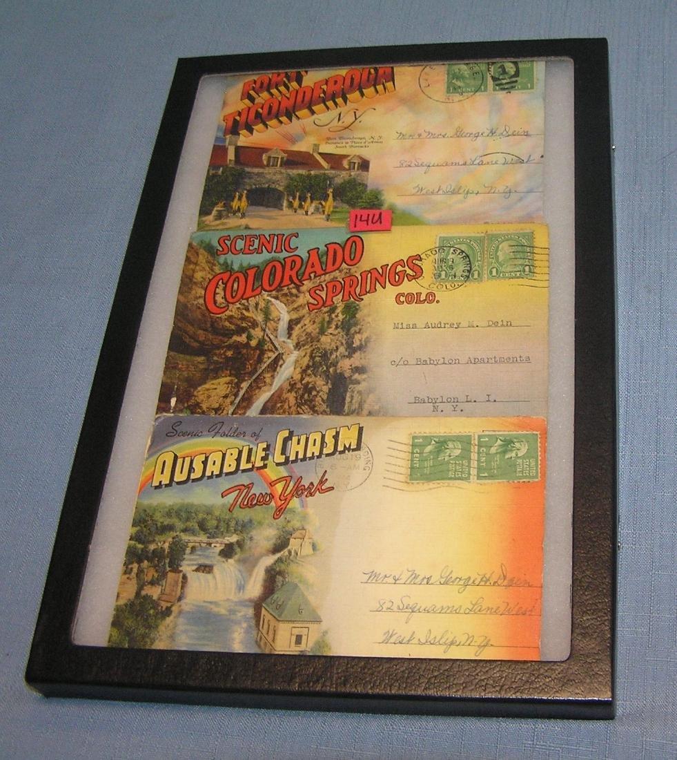 Group of vintage postcard folios