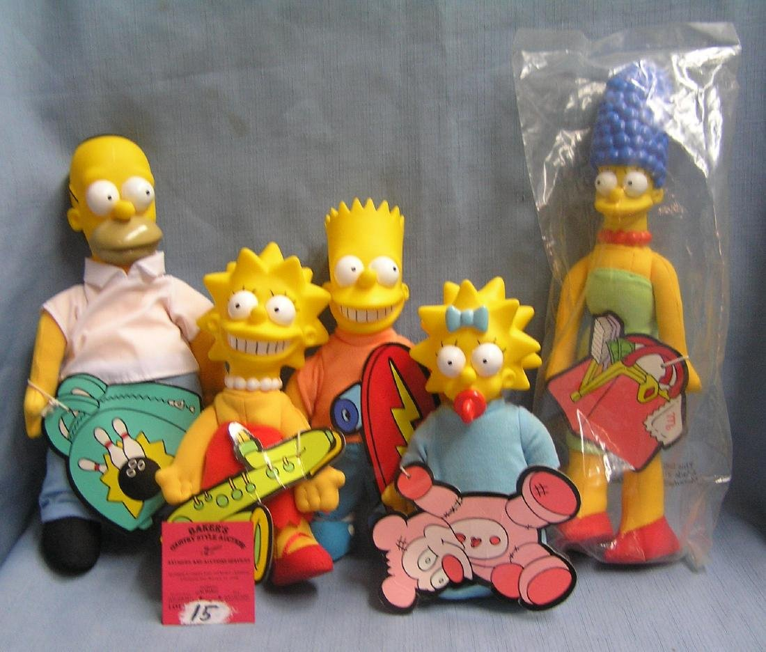 The Simpsons character doll set