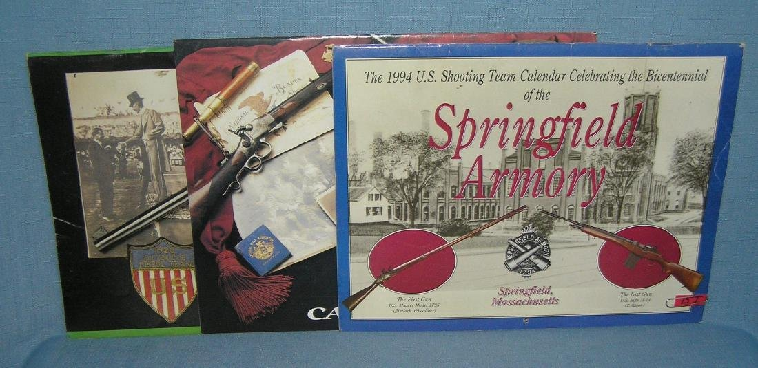 Group of 3 fire arms display calendars