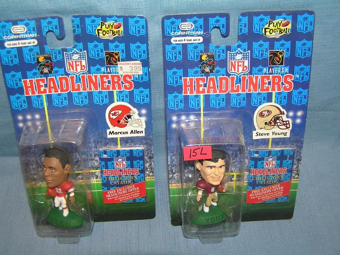 Pair of vintage Football sports figures