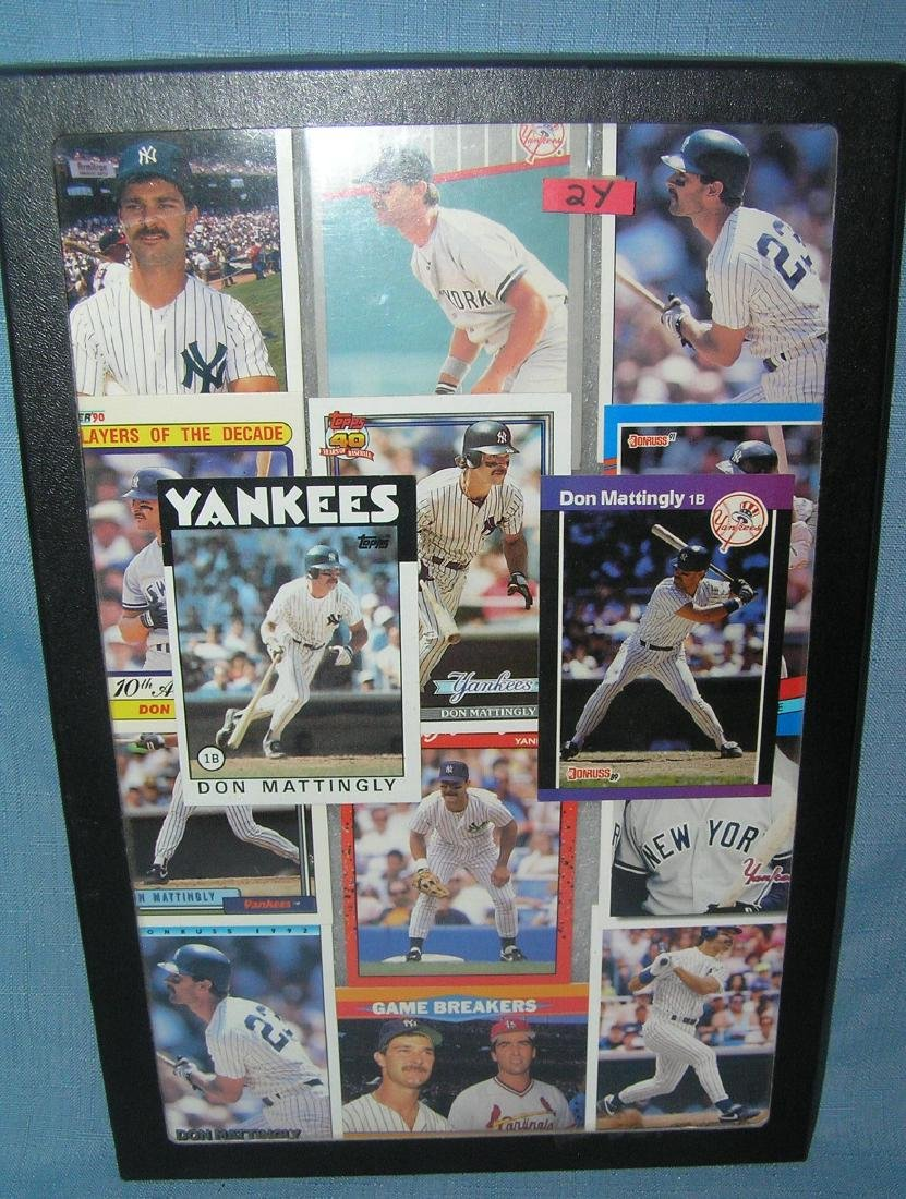 Collection of Don Mattingly all star baseball cards
