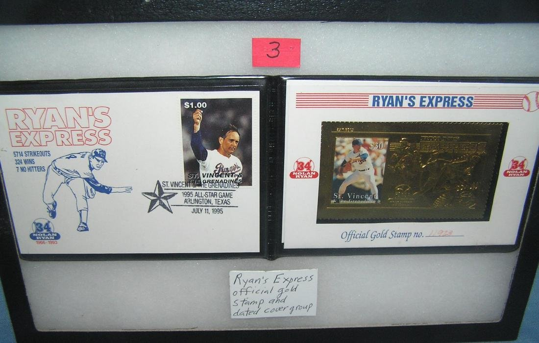 Nolan Ryan Ryan's Express official gold stamp card