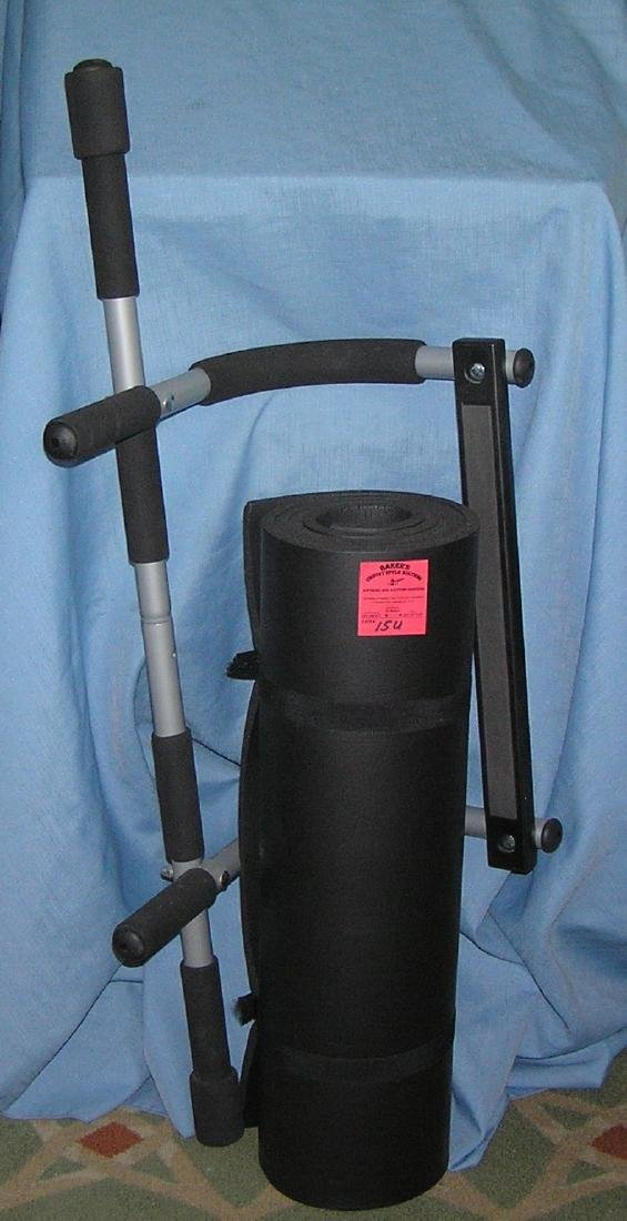 Pro fit exercise bar and mat