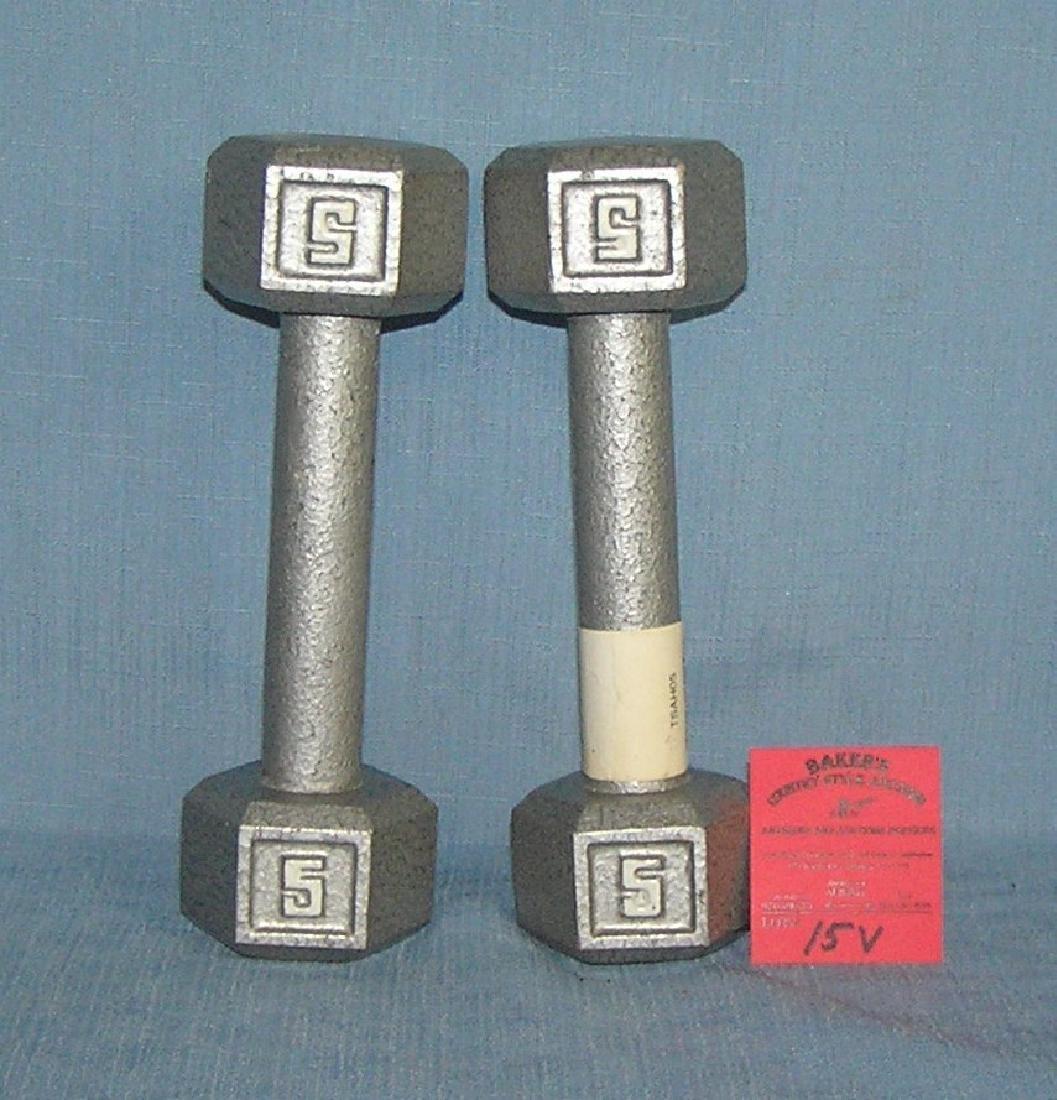 Pair of 5LB dumb bells brand new