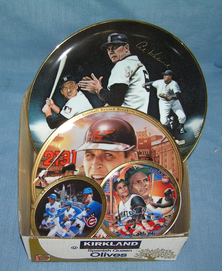 Baseball super star collector plates