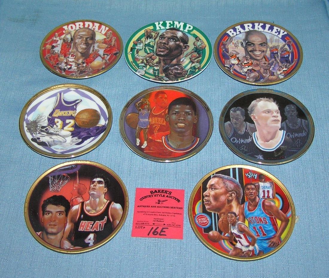 Basketball super star collector plates