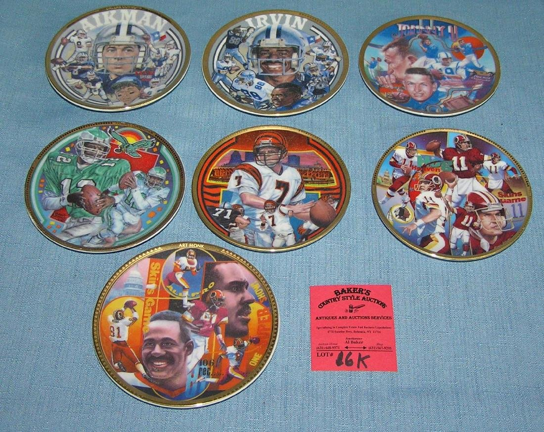 Football super star collector plates