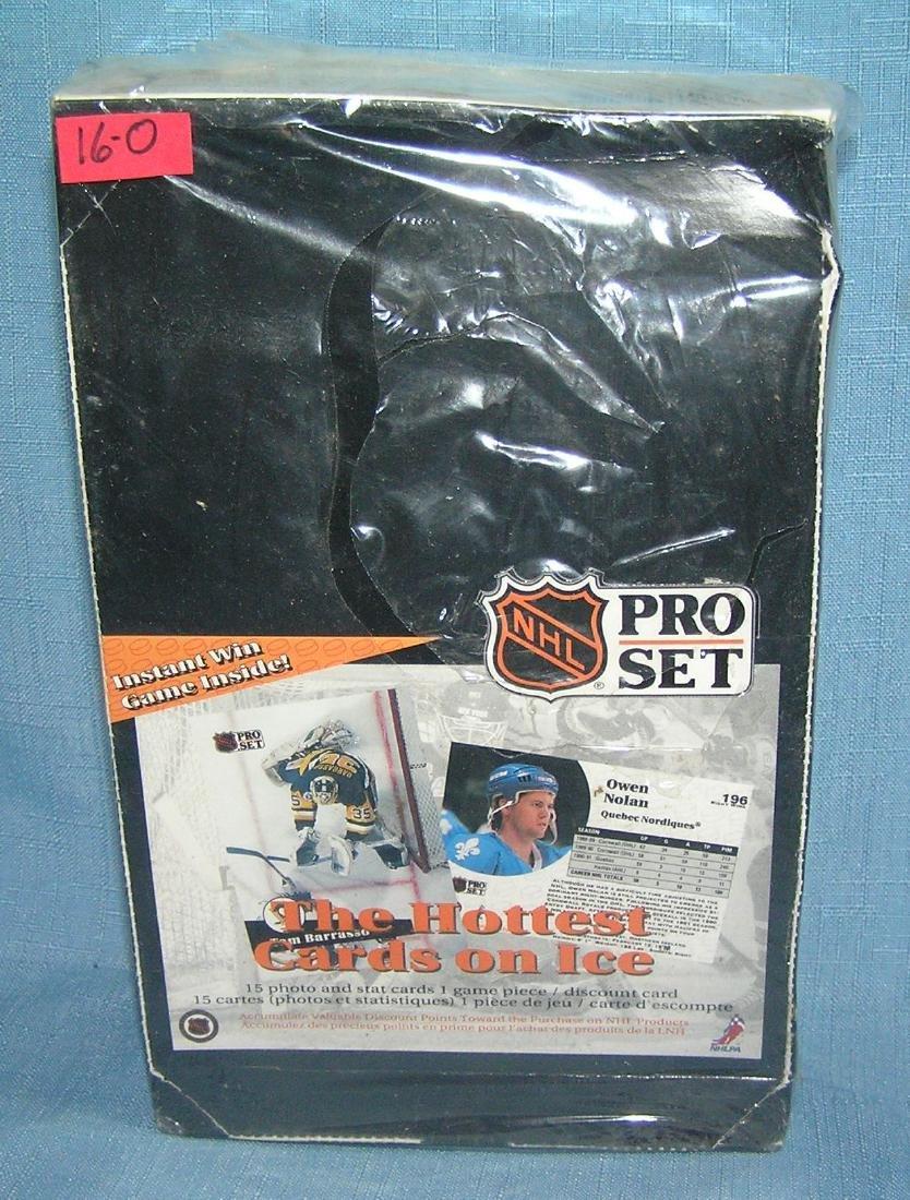 NHL pro hockey set unopened box 1991
