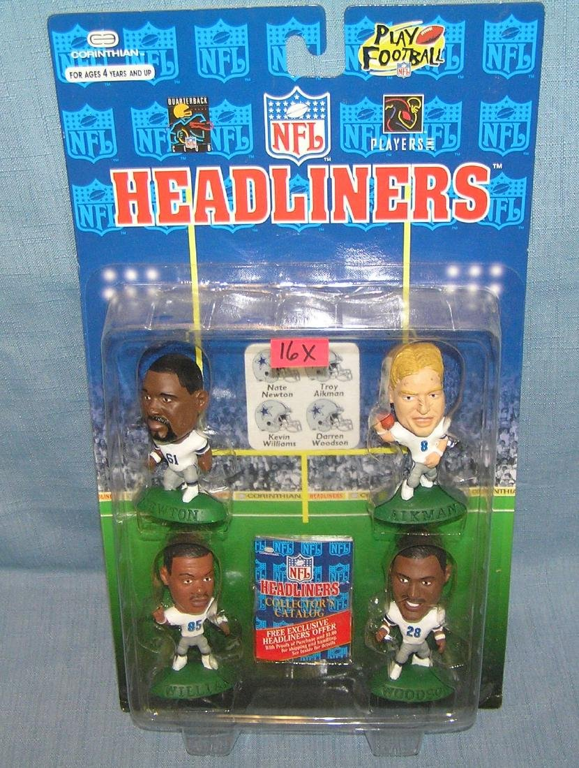 Group of 4 vintage football sports figures