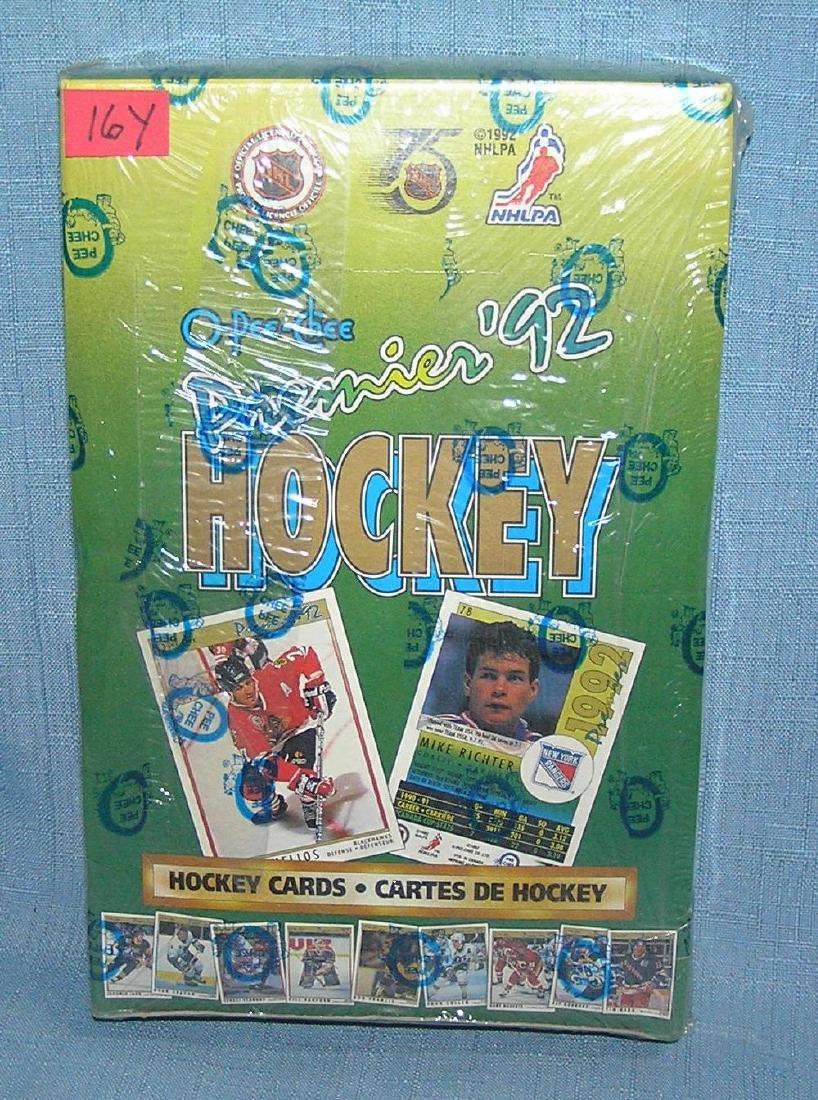 O-PEE-CHEE 1992 hockey factory sealed box of cards