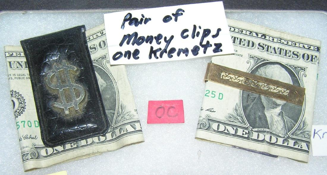 Pair of vintage money clips includes Krementz