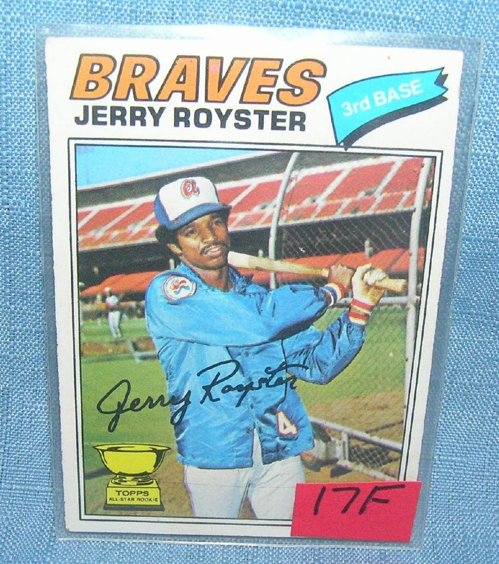 Vintage Jerry Royster rookie baseball card