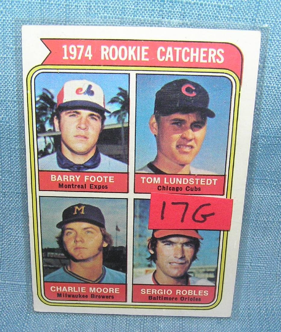 1974 rookie catchers baseball card