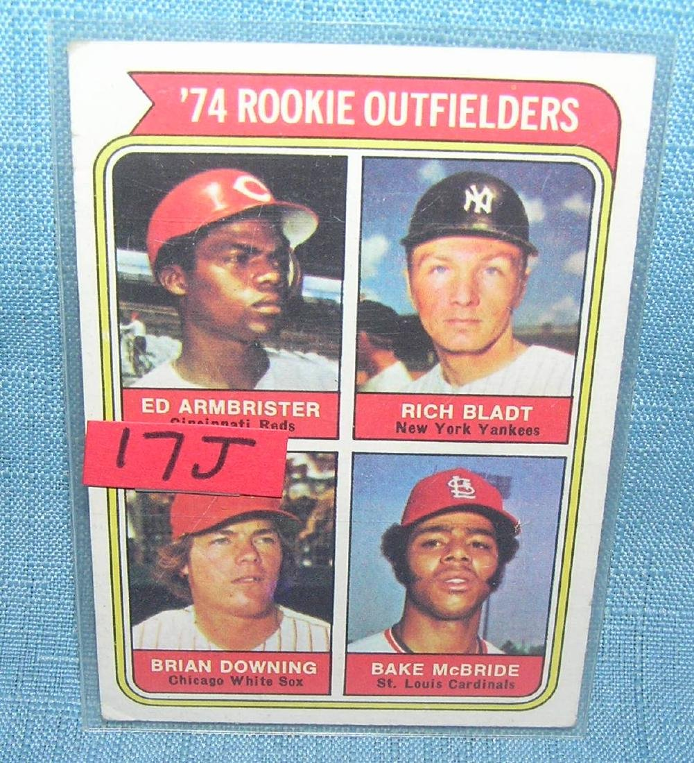 Vintage 1974 rookie outfielders baseball card